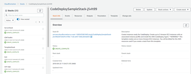 Example CF Stack